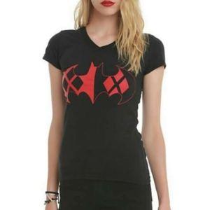 💕DC Comics Batman Harley Quinn Logo Girls T-shirt